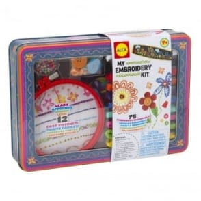 My Embroidery Kit With Metal Tin