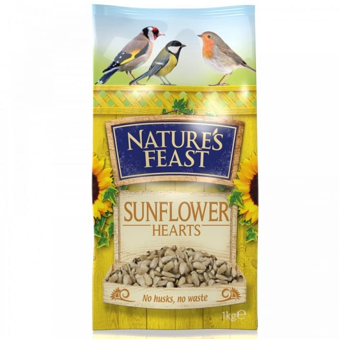 Natures Feast Sunflower Hearts 1KG