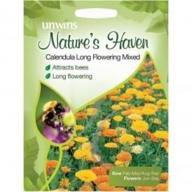 Natures Haven Calendula Long Flowering Mix Seeds