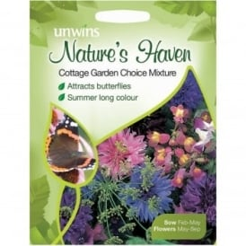 Natures Haven Cottage Garden Choice Mix Seeds