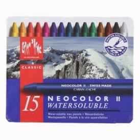 Neocolour Water Soluble Wax Pastels 15 Set