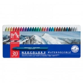 Neocolour Water Soluble Wax Pastels 30 Set