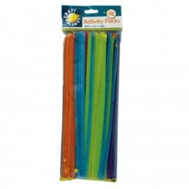 Neon Coloured Chenille Stems (60pk)