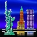New York Skyline Sequin Art Style