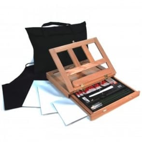 Oil Colour Easel 28pc Art Set