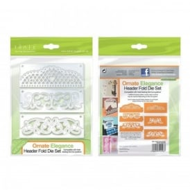 Ornate Elegance Header Fold Die Set