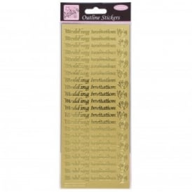 Outliner Stickers Wedding Invitation Gold