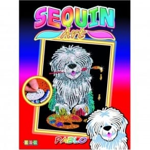 Pablo Sheepdog Sequin Art