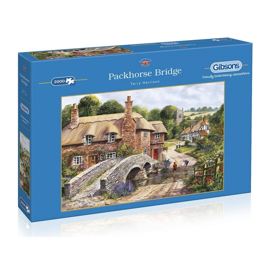 packhorse bridge jigsaw puzzle 2000 piece gibsons from. Black Bedroom Furniture Sets. Home Design Ideas