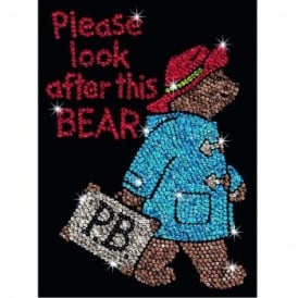 Paddington Bear Sequin Art