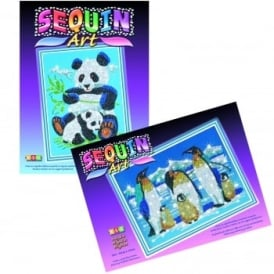 Pandas and Penguins Sequin Art and Beads Double Pack