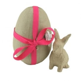 Papermache Egg with Bunny Inside