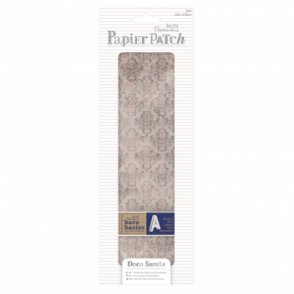 Papier Patch Deco Sheets:3 sheets 260 x 375 mm: Aged Damask
