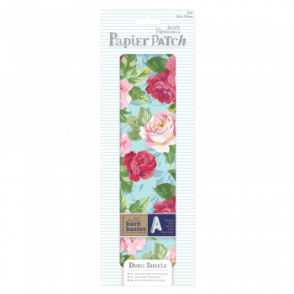 Papier Patch Deco Sheets:3 sheets 260 x 375 mm: Bloom