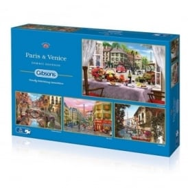 Paris and Venice 4 x 500 Piece Puzzles