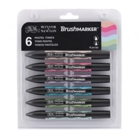 Pastel Tones BrushMarker set of 6