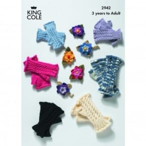 Pattern 2942 - Fingerless Gloves & Corsage