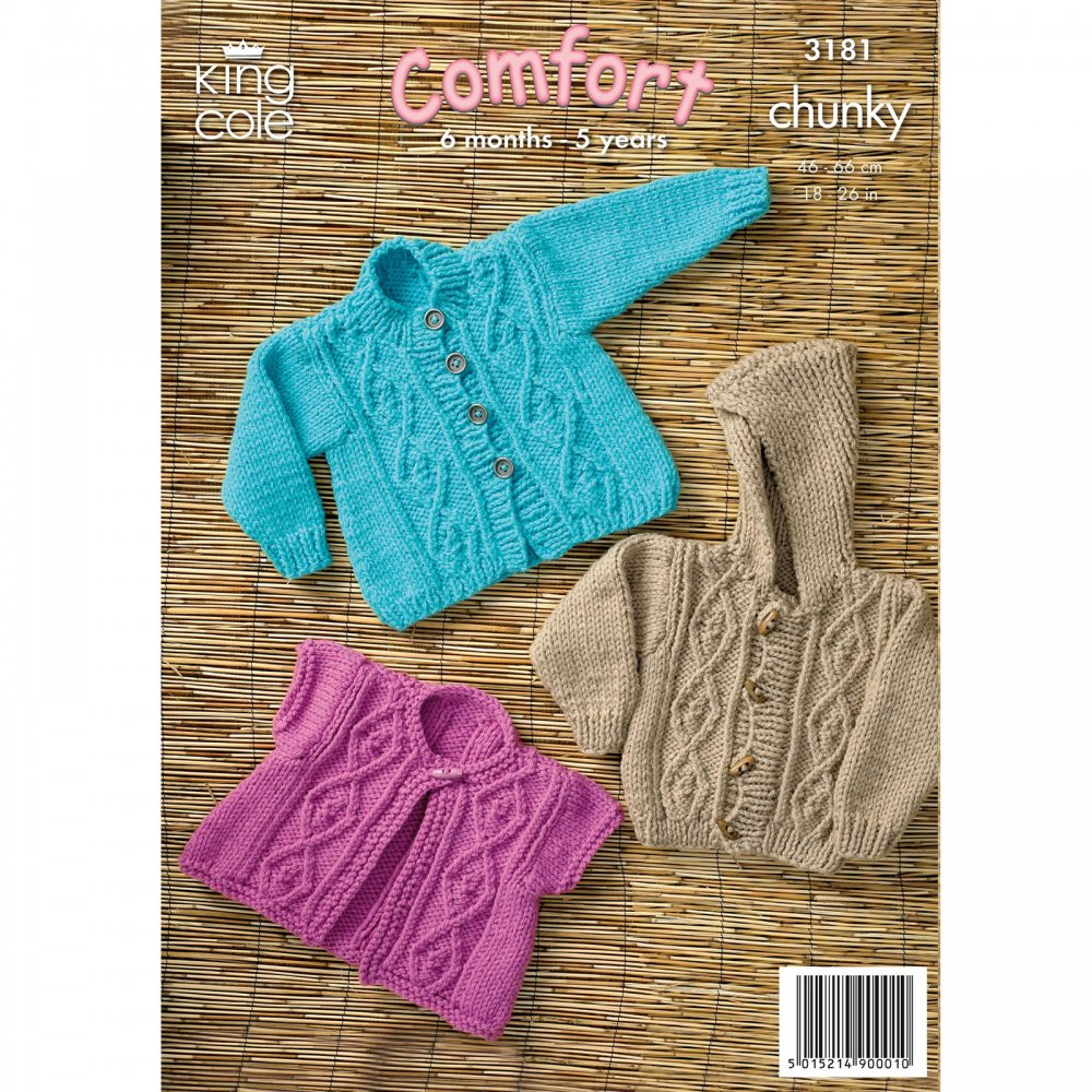 Book Cover Crochet Jacket : Pattern children s jackets king cole from