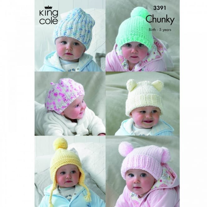 Pattern 3391 - Children's Hats