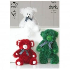 Pattern 9021 - Tinsel Chunky Teddies