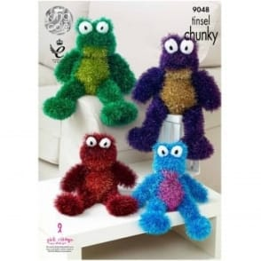 Pattern 9048 - Tinsel Chunky Toy Frogs