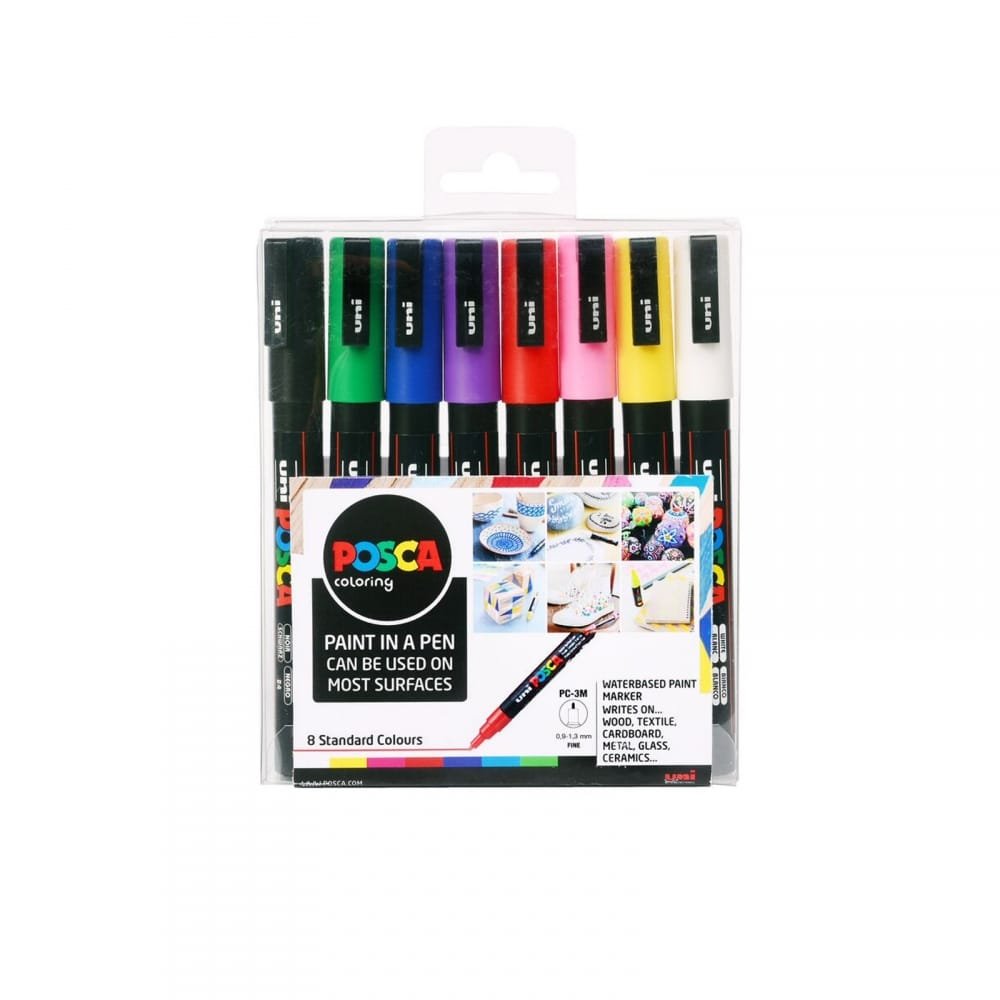 UNI POSCA MARKER PC-3M PAINT PEN FINE BULLET TIP 1.3mm NON TOXIC ANY SURFACE
