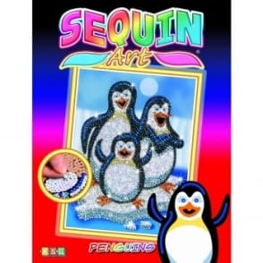 Pepino Penguins Sequin Art