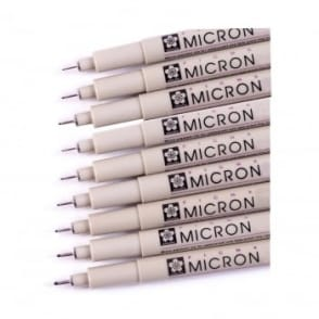 Pigma Micron Liner Pen 9 Piece Bundle