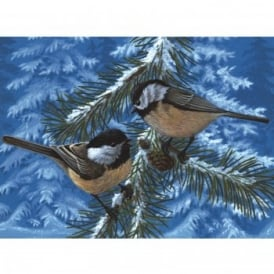 Pine Birds - Large Paint By Numbers