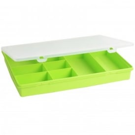 Plastic Lime Green Organiser Box