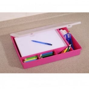 Plastic Organiser 5 section Box with A4 section