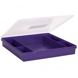 Plastic Organiser 6 Section Box