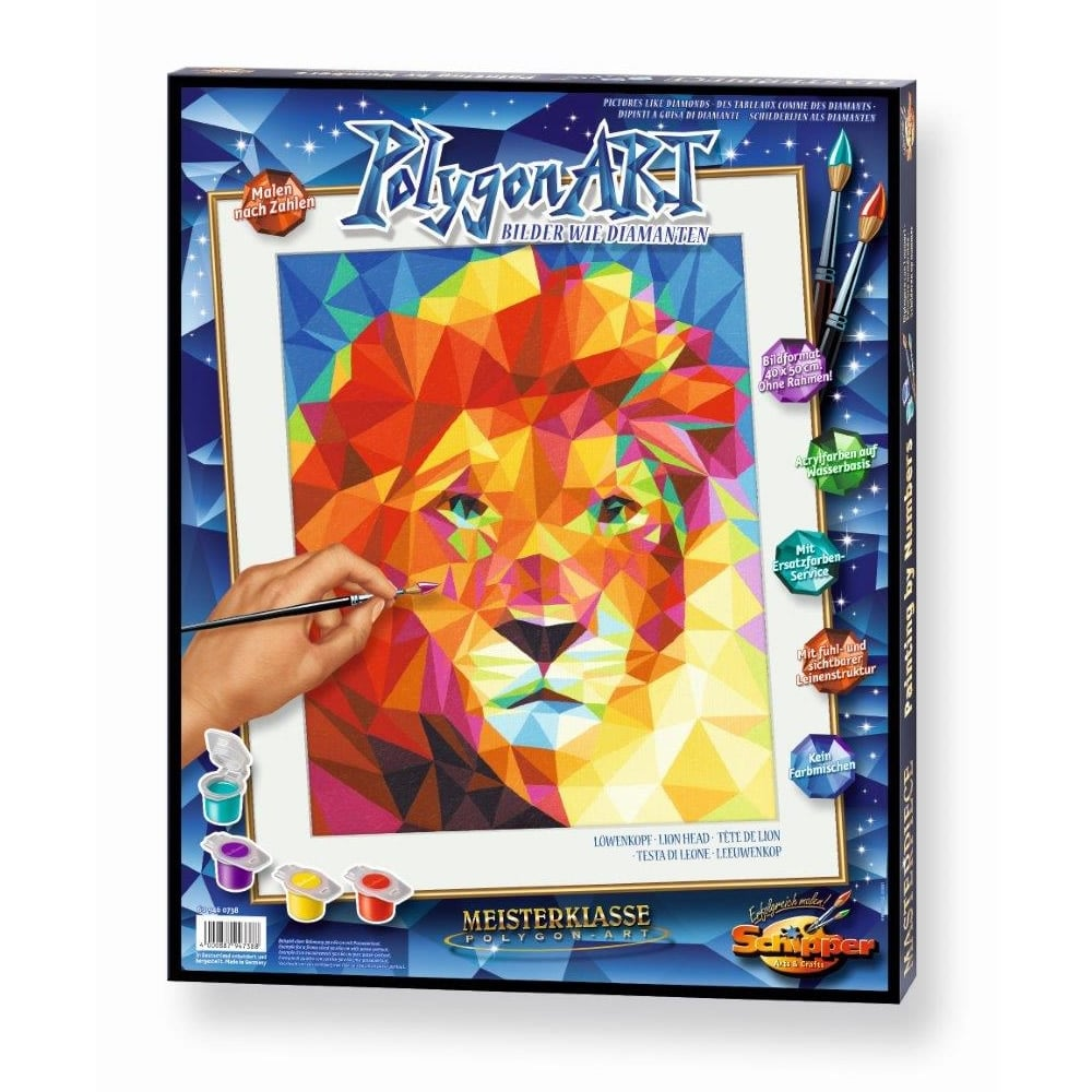 Polygon Art Paint by Numbers Lion*^^