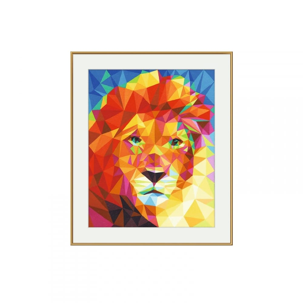polygon art paint by numbers lion schipper from craftyarts co uk uk
