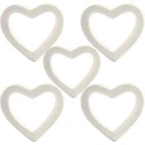 Polystyrene Heart Wreath 20cm  Bundle 5 Pack