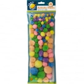 Pom Poms Pastel Shades (Pack of 100)