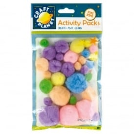 Pom Poms Pastel Shades - Pack of 30