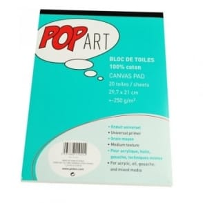 Pop Art Canvas A4 Pad - 20 Sheets