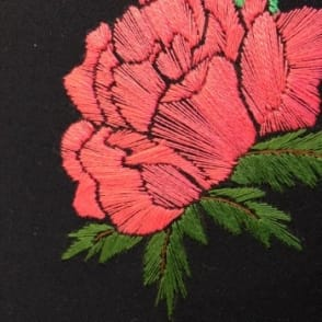 Poppy Embroidery with Coral | 5hrs x 2 Days | Dates to be confirmed