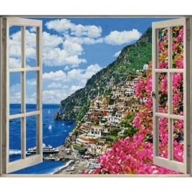 Positano on the Amalfi Coast - Large Paint by Numbers