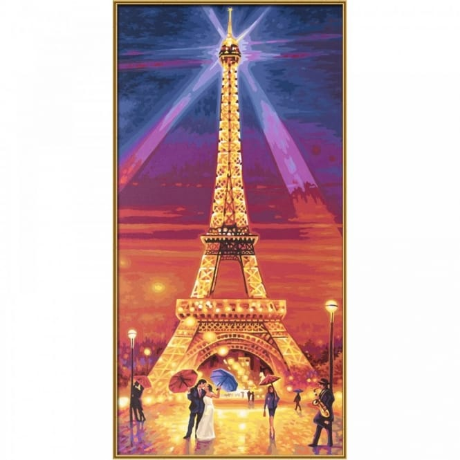 Premium Paint By Number Eiffel Tower At Night