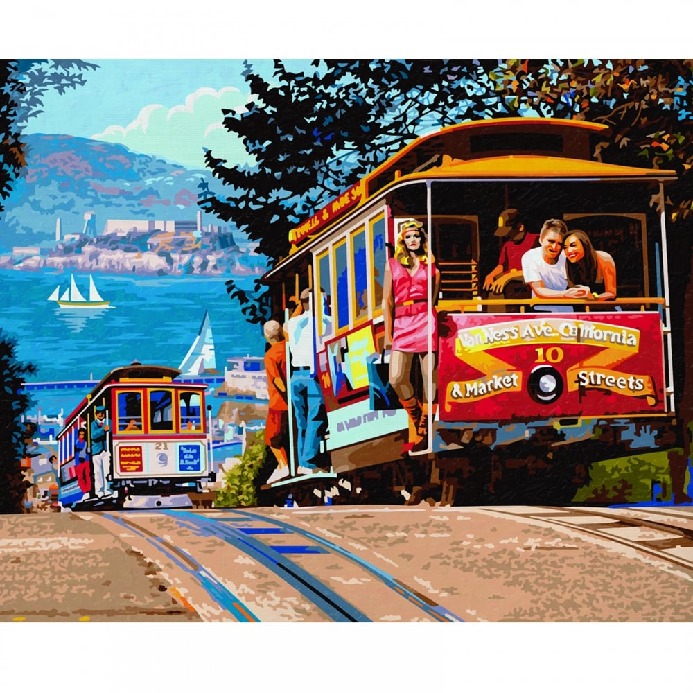 Premium Painting By Numbers San Francisco Cable Car