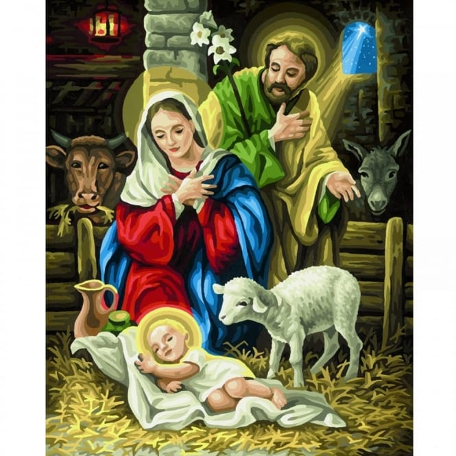 Premium Painting By Numbers The Nativity*