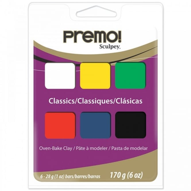 Premo Sculpey Accents Classics Oven Baked Clay Multi Pack