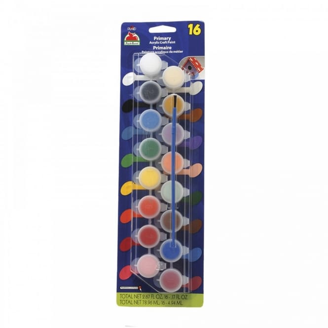 Primary Acrylic Craft Paint 16 Colours
