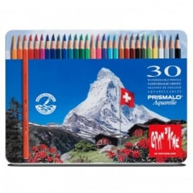 Prismalo Aquarelle Water Soluble Pencils 30 Tin