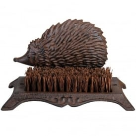 Cast Iron Hedgehog Boot Cleaning Brush