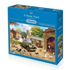 A Busy Yard Jigsaw Puzzle 1000 Pieces