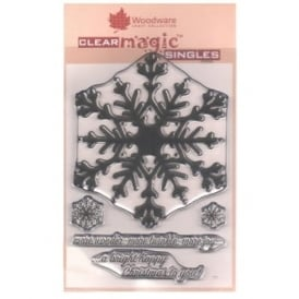 Clear Stamps Huge Snowflake 5 Set
