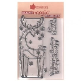 Clear Stamps Snowflake Reindeer 3 Set